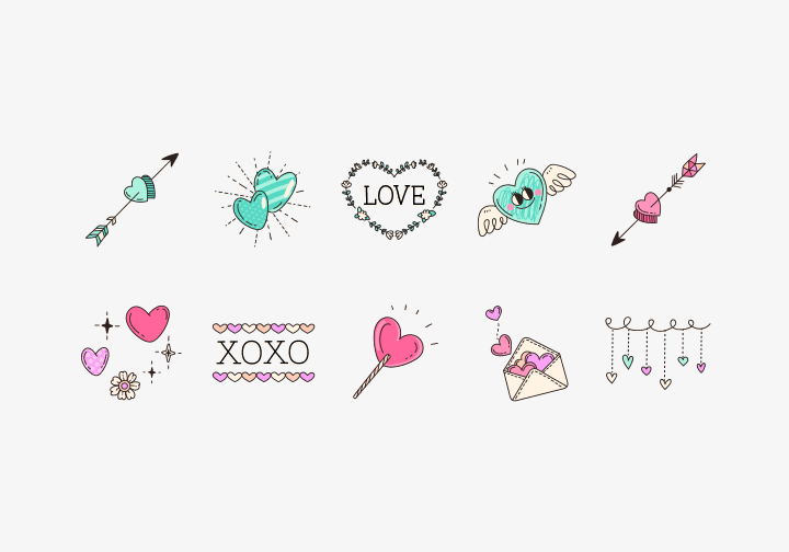PhotoGrid Stickers Valentine