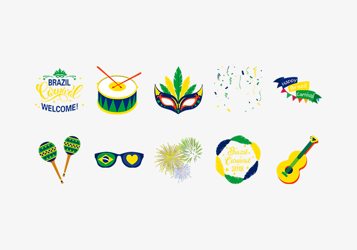 PhotoGrid Stickers Brazil Carnival