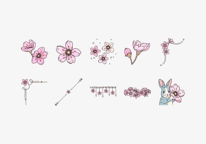 PhotoGrid Stickers Sakura
