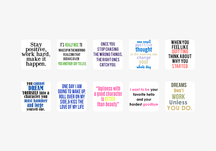PhotoGrid Stickers Life Quotes