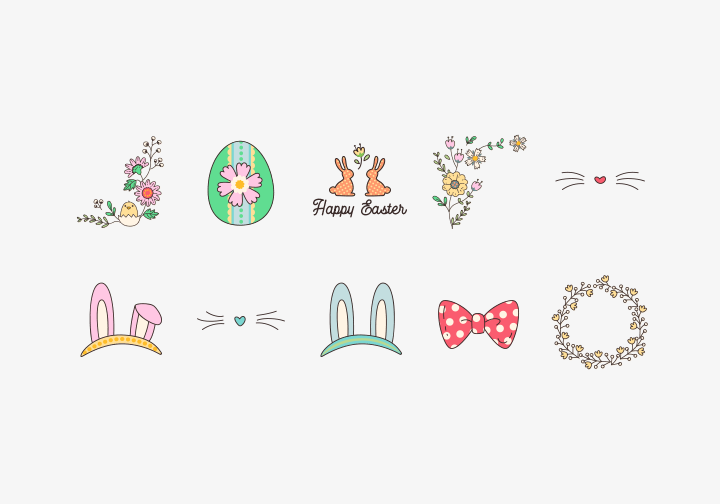 PhotoGrid Stickers Sweet Easter