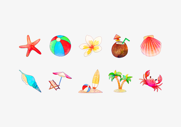 PhotoGrid Stickers Beach Life