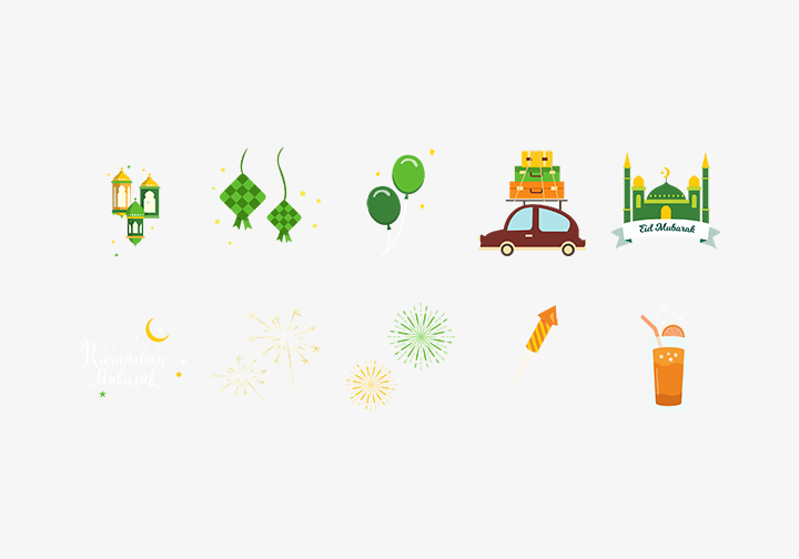 PhotoGrid Stickers Ramadan Mubarak