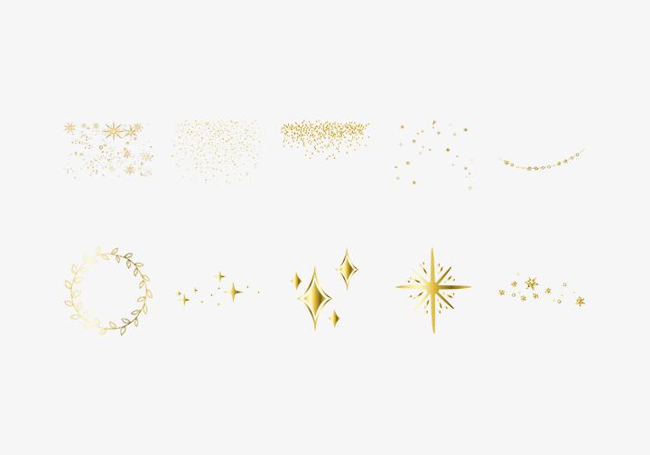 PhotoGrid Stickers Shiny Elements