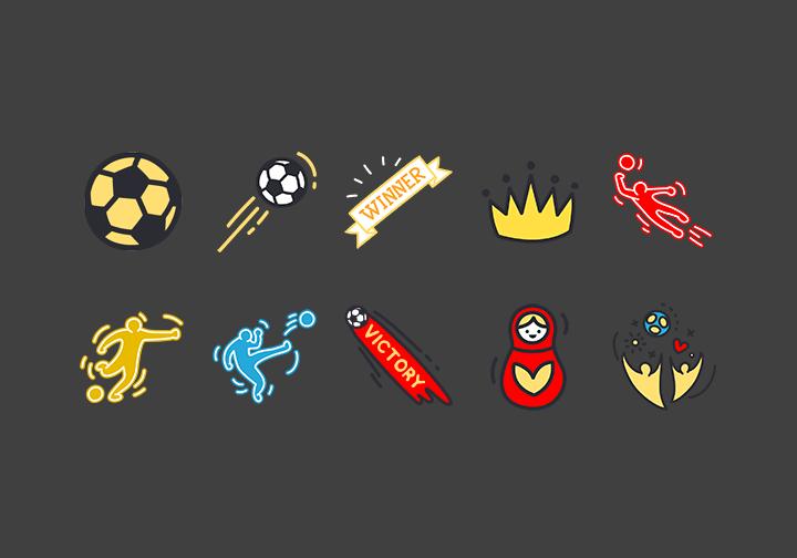 PhotoGrid Stickers Love Football