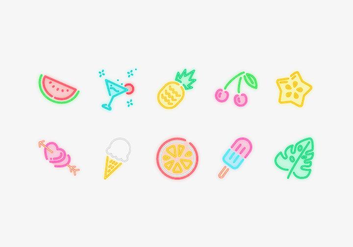 PhotoGrid Stickers Summer Neon
