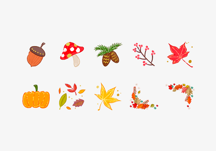 PhotoGrid Stickers Autumn