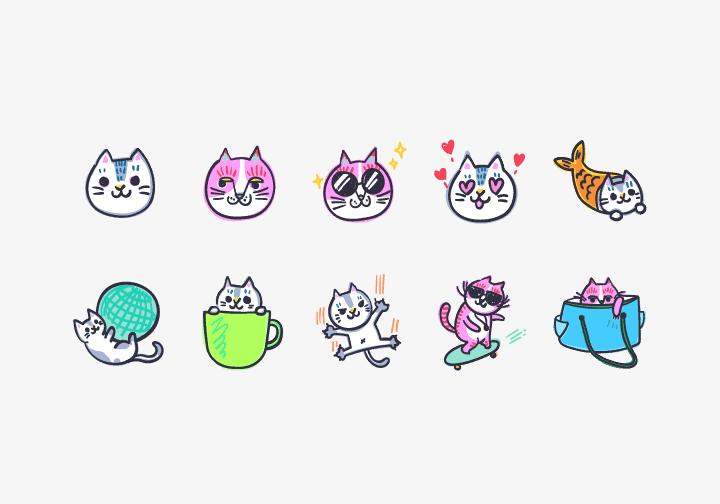 PhotoGrid Stickers Cat