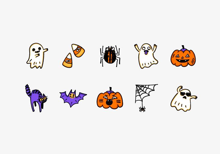 PhotoGrid Stickers Halloween Sticker