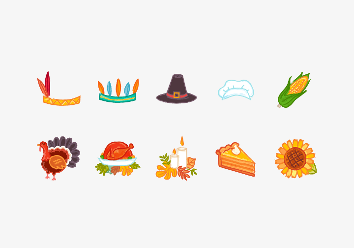 PhotoGrid Stickers Thanksgiving