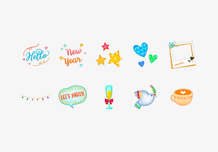 PhotoGrid Stickers It's New Year's Eve Sticker