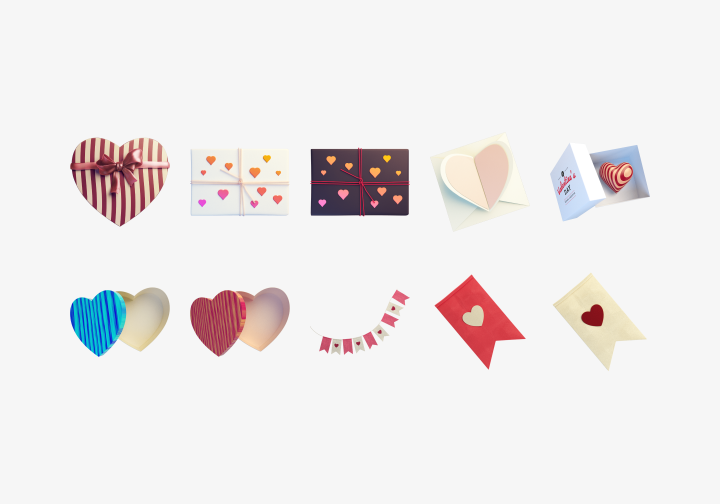 PhotoGrid Stickers Sweet Heart