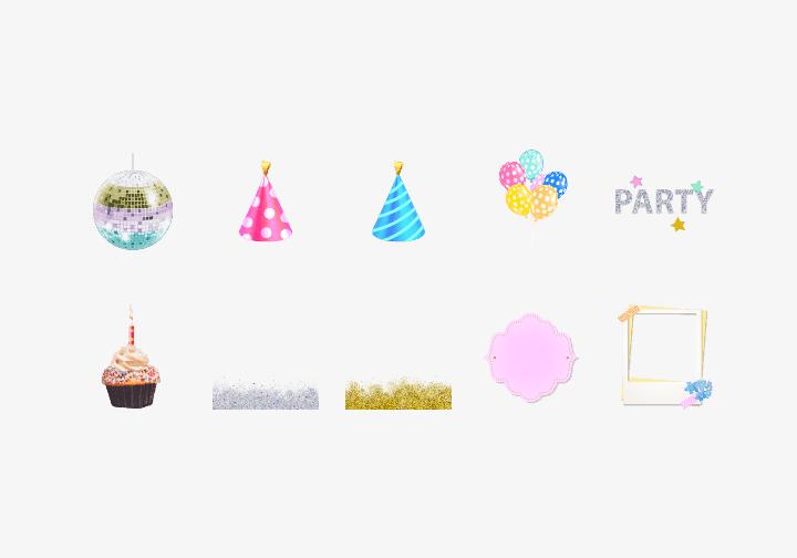 PhotoGrid Stickers Birthday Time Sticker