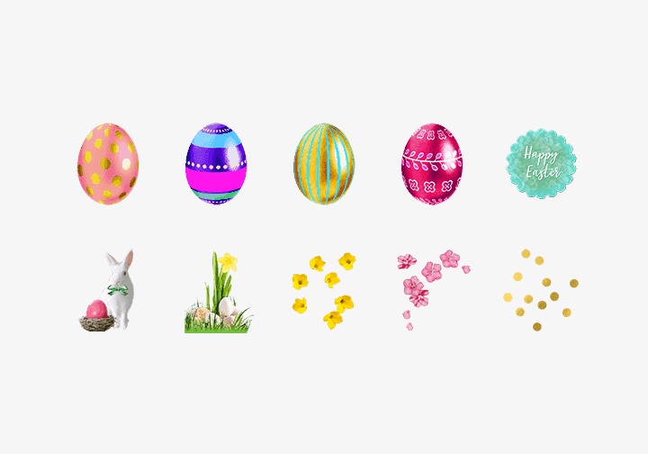 PhotoGrid Stickers Easter Celebration Sticker