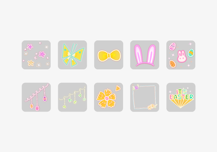 PhotoGrid Stickers It's Easter Sticker