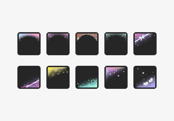 PhotoGrid Stickers Shiny Frame Sticker