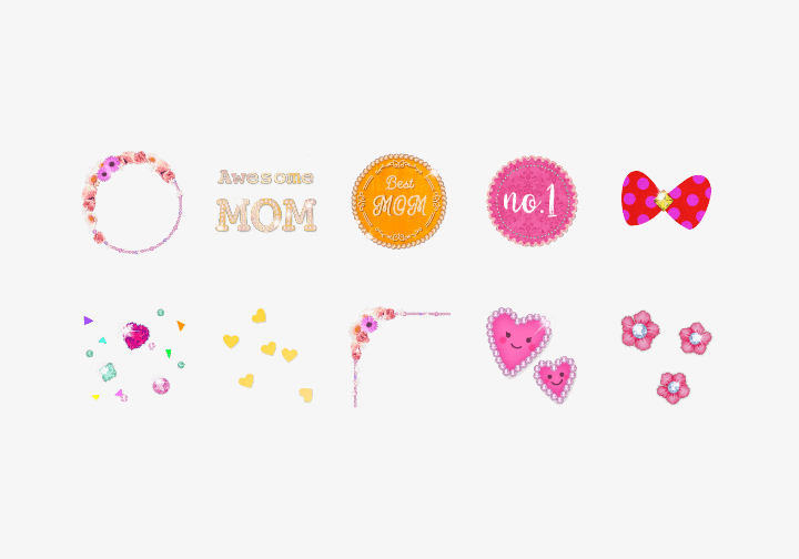 PhotoGrid Stickers I Love Mom Sticker
