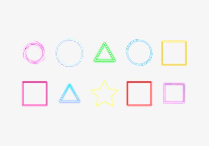 PhotoGrid Stickers Neon