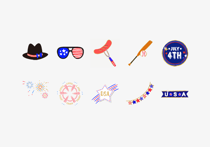 PhotoGrid Stickers Happy 4th of July Sticker