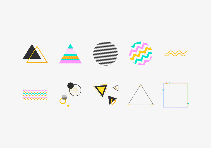 PhotoGrid Stickers Geometric Sticker