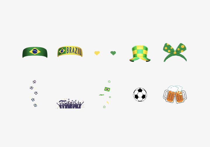 PhotoGrid Stickers Brazil Football Frenzy