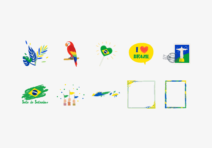 PhotoGrid Stickers Independence Day of Brazil