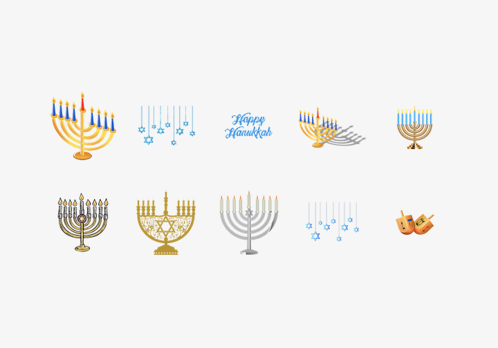 PhotoGrid Stickers Happy Hanukkah Sticker