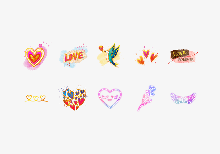 PhotoGrid Stickers Love Forever Sticker
