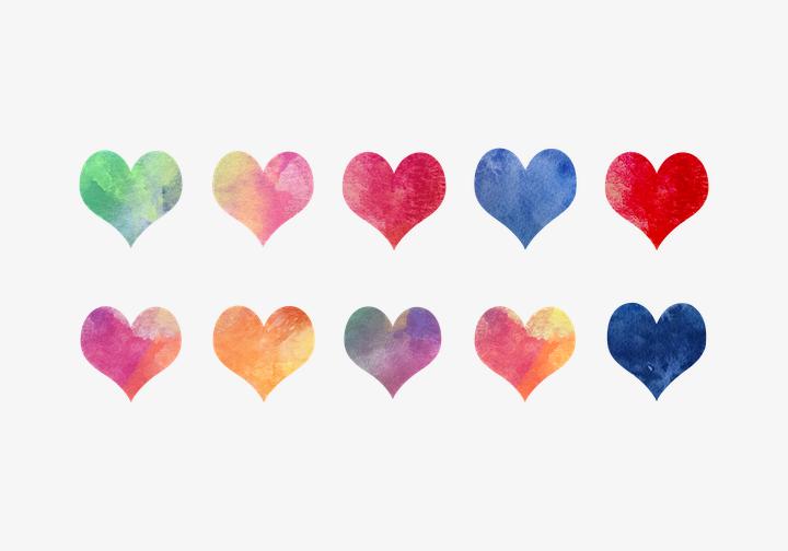 PhotoGrid Stickers Heart Shape Sticker