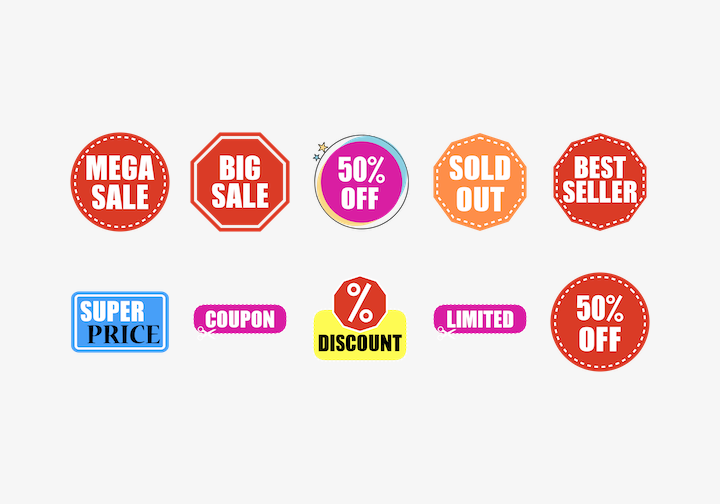 PhotoGrid Stickers Sale Labels Sticker