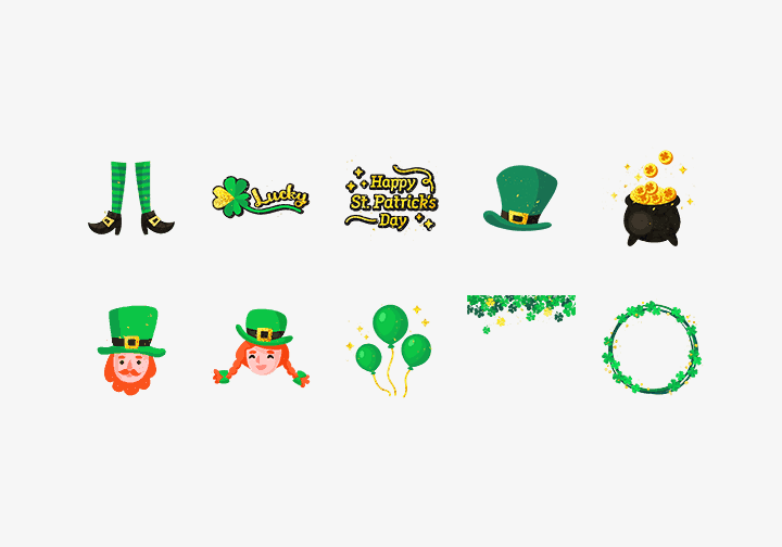 PhotoGrid Stickers Happy St. Patrick's Day Sticker
