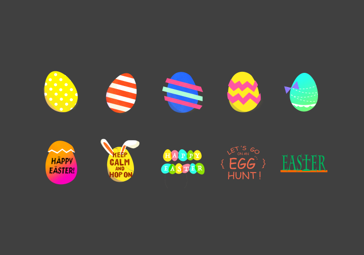 PhotoGrid Stickers Happy Easter