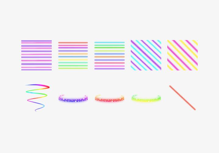 PhotoGrid Stickers Neon2