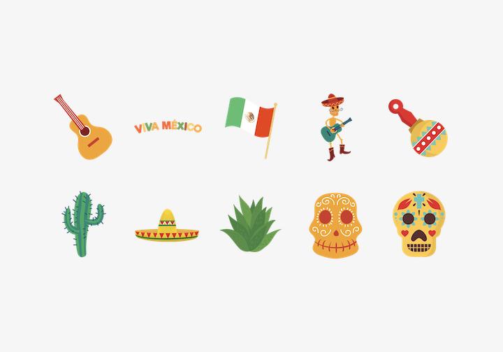 PhotoGrid Stickers Viva Mexico