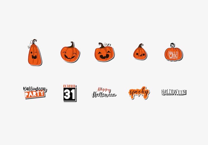 PhotoGrid Stickers Halloween Cutouts