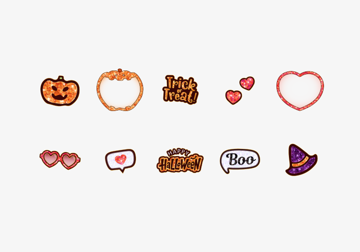 PhotoGrid Stickers Shiny Halloween