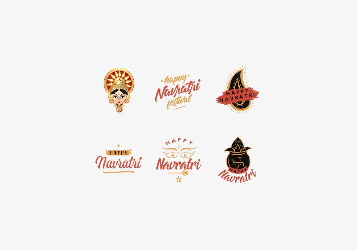 PhotoGrid Stickers Happy Navratri