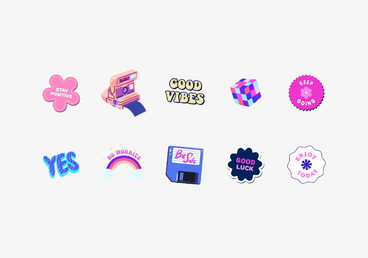 PhotoGrid Stickers Good Vibes