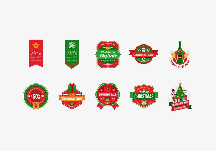 PhotoGrid Stickers Christmas Sale Label