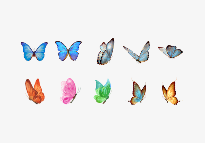 PhotoGrid Stickers Butterfly