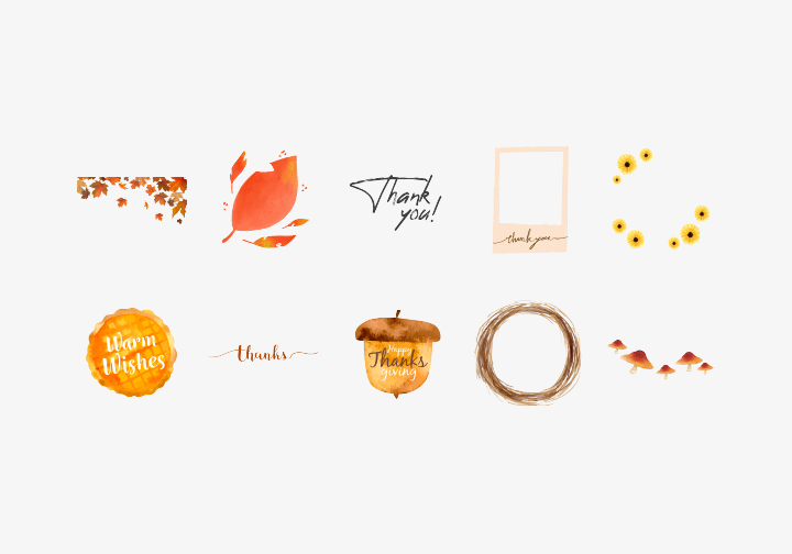 PhotoGrid Stickers Thanksgiving Frame