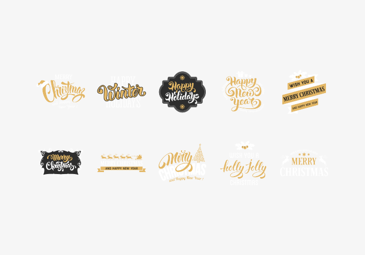 PhotoGrid Stickers Christmas Lettering