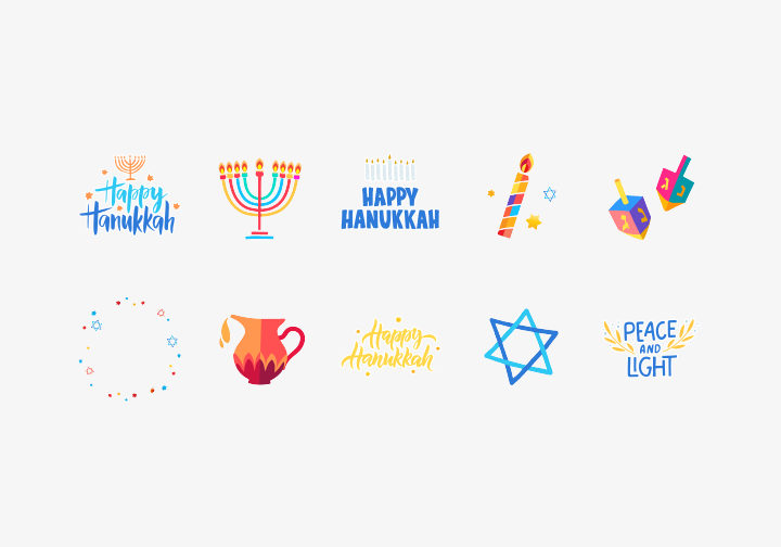 PhotoGrid Stickers Hanukkah