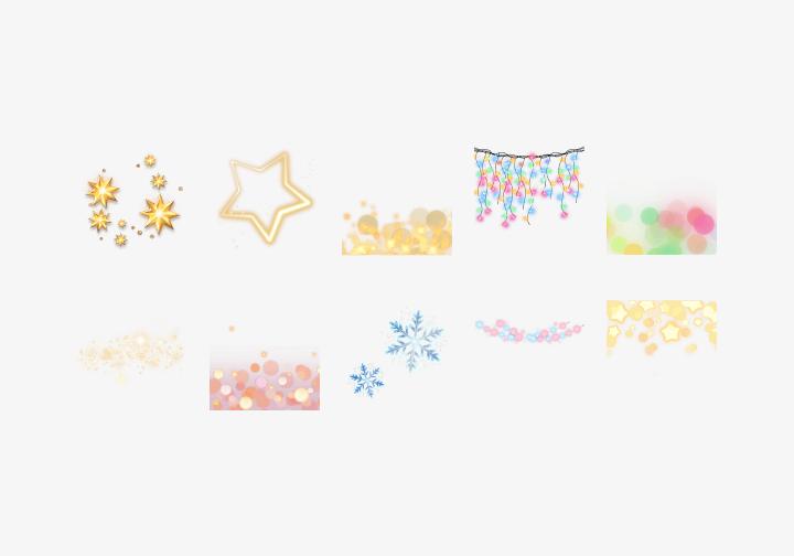 PhotoGrid Stickers Dreamy Light