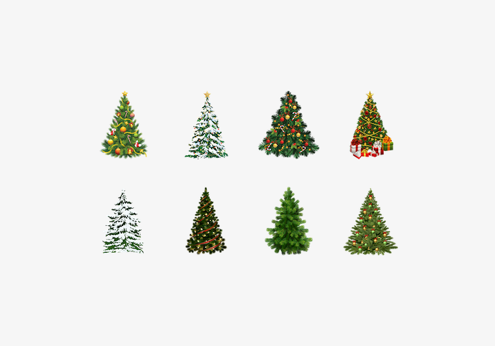 PhotoGrid Stickers Christmas Tree