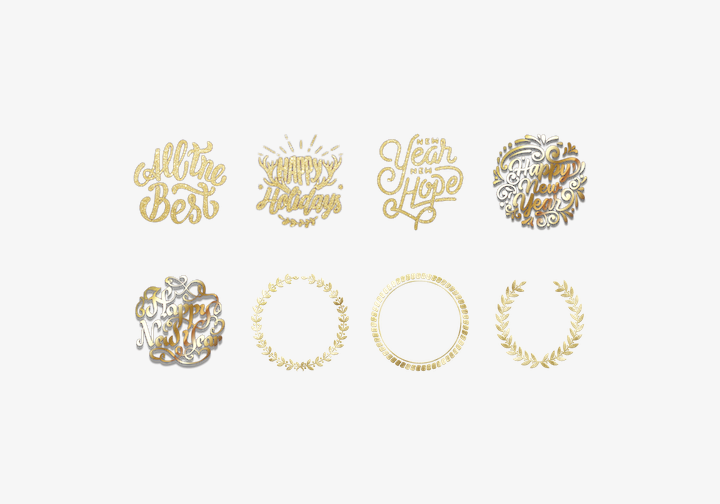 PhotoGrid Stickers New Year Deco