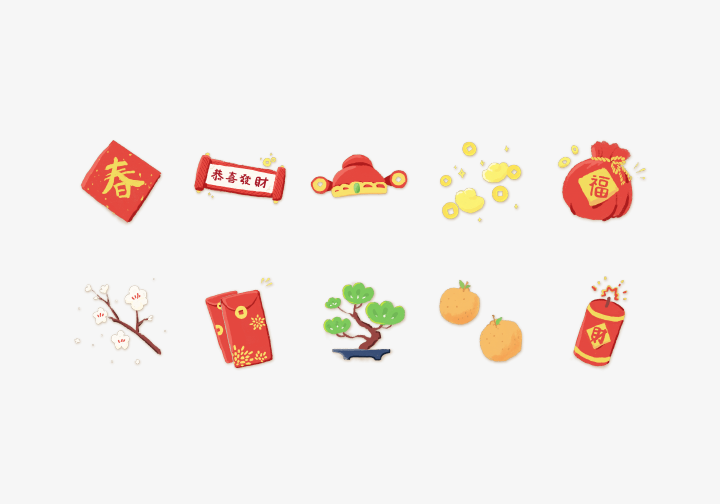 PhotoGrid Stickers Chinese New Year