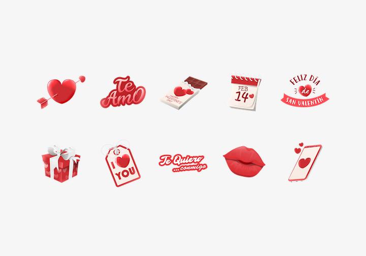 PhotoGrid Stickers Te Amo