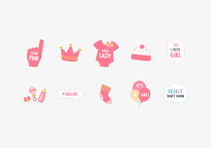 PhotoGrid Stickers Welcome Baby