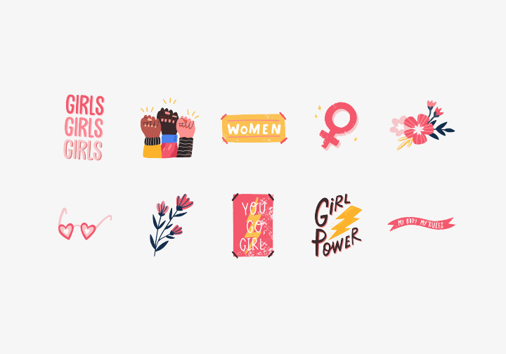 PhotoGrid Stickers Happy Women's Day